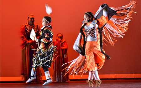 Dancers in Traditional American Indian dress